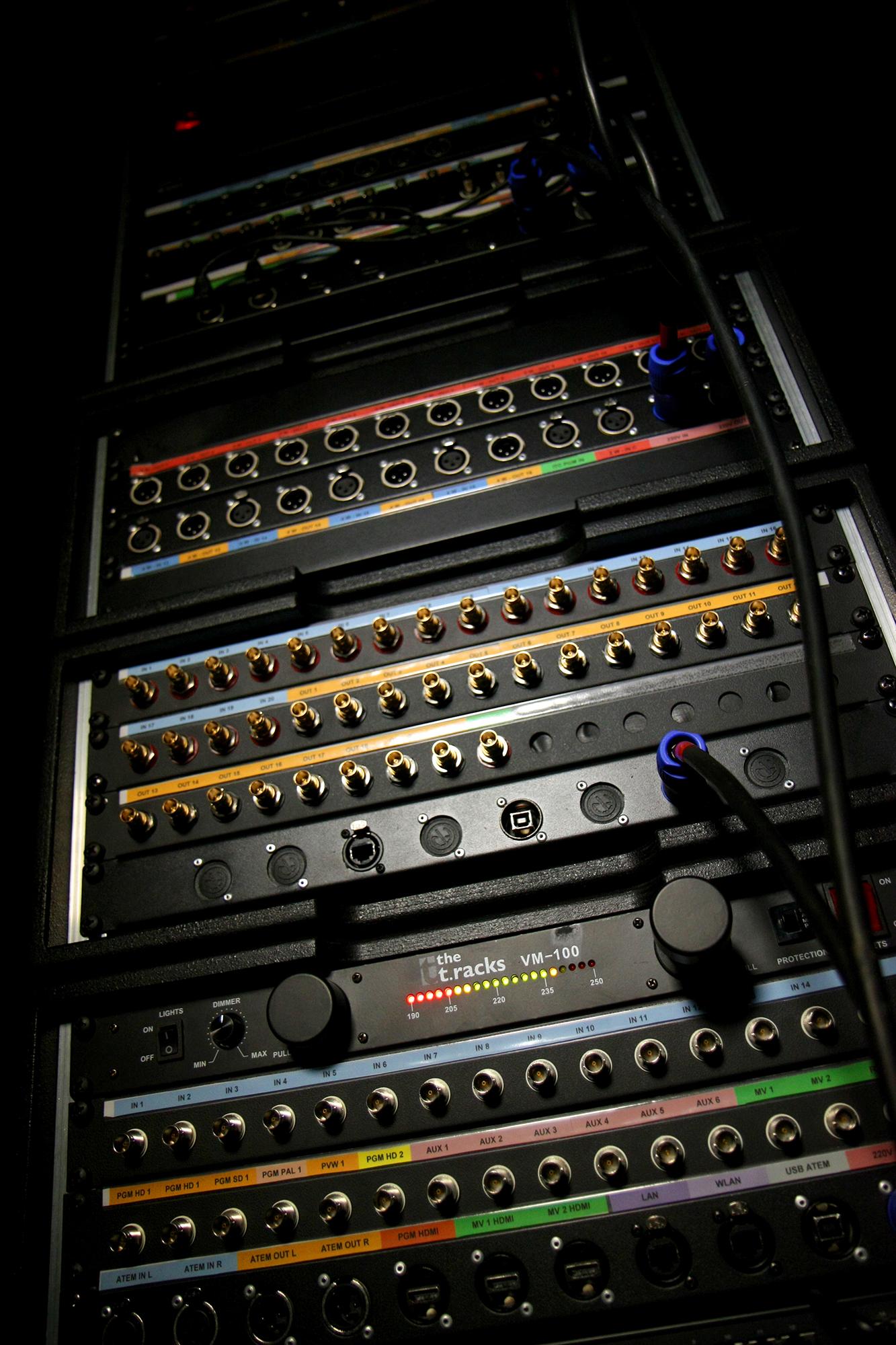 Racks régie modulables